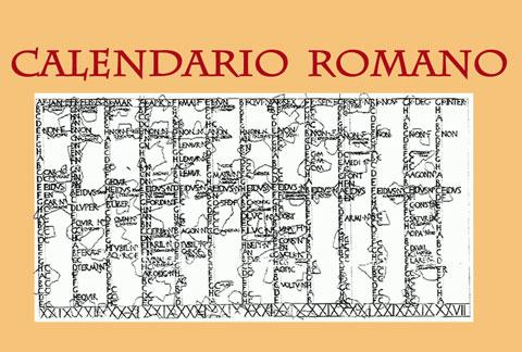 Calendario Romano.I Nomi Dei Mesi 1